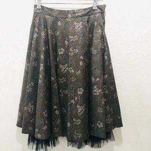 Anthropologie Snak Kingsley Skirt With Tulle